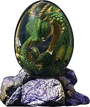 Decorazione da scrivania a forma di uovo di drago
