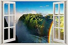 Decorazione della parete della finestra adesivo