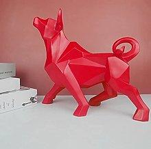 Decorazione della scultura, statua del toro,