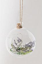Decorazione di Natale in vetro con luce LED