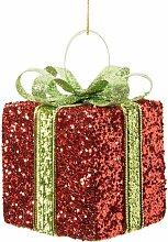 Decorazione di Natale regalo rosso e verde