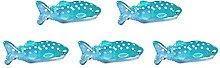 Decorazione in resina di squalo, 5 pezzi Statuine