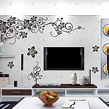 Decorazione murale, adesivo murale in PVC nero,