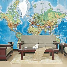 Decorazione Murale Hd Mappa Del Mondo Foto Murale