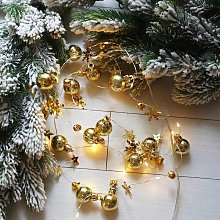 Decorazione natalizia con luci a LED, 2 m Pigne