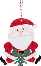 Decorazione natalizia da appendere Babbo Natale