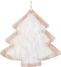 Decorazione per albero di Natale simil pelliccia
