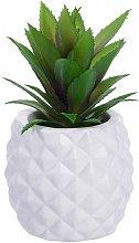 Decorazione succulenta artificiale in vaso, finta