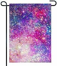 Decorazioni da Giardino Colorate Galassia a 2 Lati