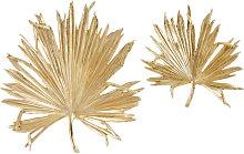 Decorazioni da parete foglie di palma dorate (x2)