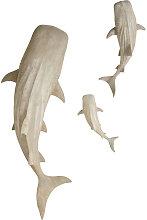 Decorazioni da parete squali balena grigio