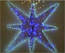 Decorazioni luci di natale stella led struttura
