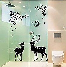 Decorazioni natalizie Murale Albero Cervo Adesivo