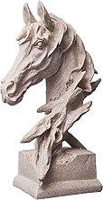 Decoro statua Aquila becco mini testa di cavallo