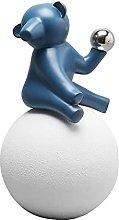 Decoro statua Modern Semplice Blu Permanente Orso