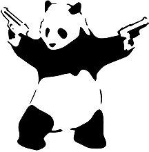 decorsfuk.co Banksy Panda con pistole | Adesivo da