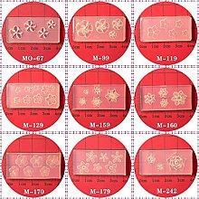 Dedepeng Stampo in silicone 9 pezzi 5 petali di