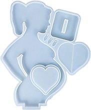 Dedepeng Stampo in silicone a forma di cuore Mama
