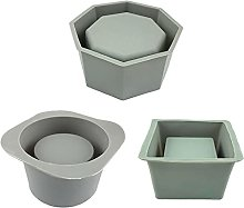 Dedepeng Stampo in silicone epossidico per vaso di