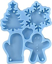 Deendeng Stampo in silicone per Natale, 4 forme, 1