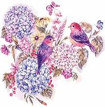 dekodino® Adesivo murale acquerello bouquet di