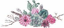 dekodino® Adesivo murale acquerello cactus con