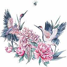 dekodino® Adesivo murale acquerello gru con