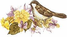 dekodino® Adesivo murale acquerello uccello con