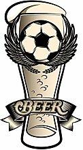 dekodino® Adesivo murale bicchiere da birra con