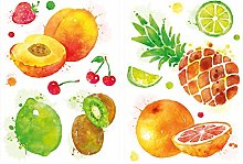 dekodino® Adesivo murale cucina serie acquerello