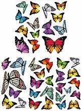 dekodino® Adesivo murale farfalle con ali