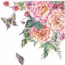 dekodino® Adesivo murale fiori acquerello