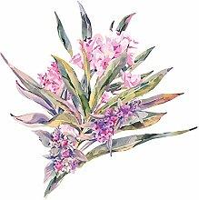 dekodino® Adesivo murale fiori con foglie viola