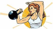 dekodino® Adesivo murale fitness atleta con