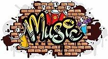 dekodino® Adesivo murale graffiti music eruzione