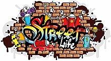 dekodino® Adesivo murale graffiti street life