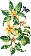 dekodino® Adesivo murale i fiori acquerello gigli