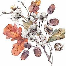 dekodino® Adesivo murale i fiori acquerello ramo