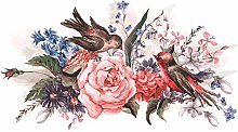 dekodino® Adesivo murale i fiori acquerello