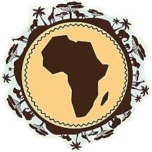 dekodino® Adesivo murale mappa dell'Africa