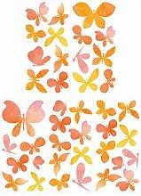 dekodino® Adesivo murale set di farfalle