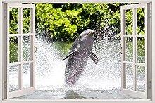 Delfini che saltano murale Adesivo Home Deocr