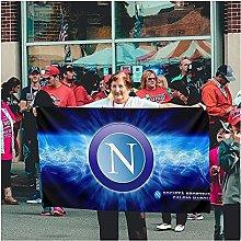 DELIMITE Bandiere da Giardino Stemma Napoli Calcio