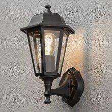 Deliziosa lampada a muro da esterno GRADO, nera