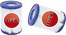 Denkmsd Cartuccia di filtro per piscina tipo II,