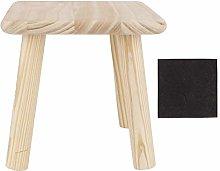 DERCLIVE Sgabello multiuso in legno per la casa,