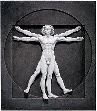 Design Toscano Scultura da Parete l'Uomo