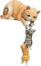 Desktop Hanging Cat Madre e Bambini Statua Statua