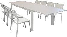 DEXTER - set tavolo giardino rettangolare