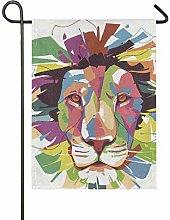 DEZIRO Art - Bandiera da Giardino con Leone su